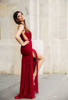CRISTALLINI #EveningDress #RedCarpet #Prom #Silk #RedDress