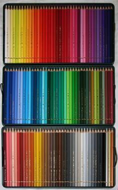 Faber Castell Polychromos Set of 120 Coloured Pencils Oil base, great colours. Base d'huile. Un des meilleurs produits.