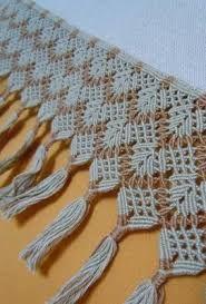Resultado de imagem para toalhas macrame