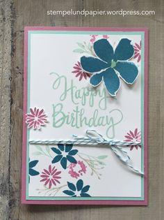 Kreative Auszeit Juli 2016, Stampin Up, Durch die Blume, Stylized Birthday
