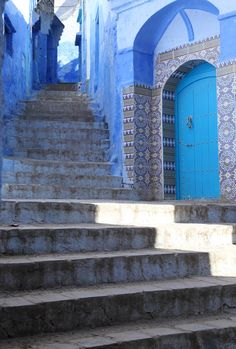 Stairway - (Chefchaouen, Morocco)