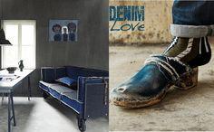 Canapé Jeans / denim at home Denim Couch, Denim Jeans, Teenage Room, Close My Eyes, Birkenstock Boston Clog, Studio, Clogs, Indigo, Im Not Perfect