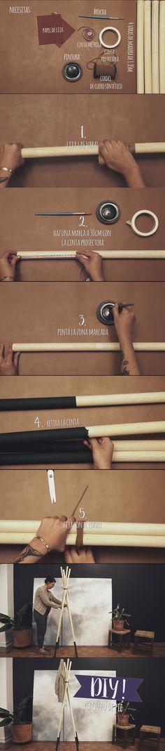 Sencillo  DIY: Perchero de pie chic y moderno / https://www.westwing.es/