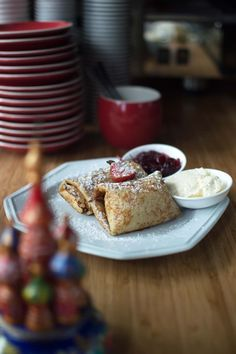 Cottage Cheese and Sultana Blini at Newtown's Izba Russian Treats
