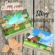 FOR GOOGLE CLASSROOM! Work on story elements that include setting, characters, solution, and problem. This has twenty slides to work on and improve reading comprehension skills. Perfect for distance learning or a fun and engaging classroom activity.