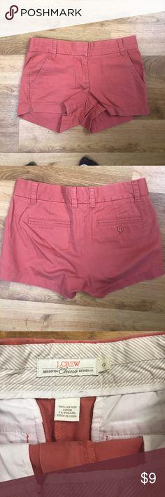 Kk.crew Nantucket red chino shorts 3 inch inseam. Lightly worn. Nantucket red. Size 0. J. Crew Shorts