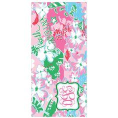 Designs by Dee's Hands - Lilly Pulitzer North Carolina Print Bath Beach Towel w/Monogram, $42.95 (http://www.designsbydeeshands.com/lilly-pulitzer-north-carolina-print-bath-beach-towel-w-monogram/)