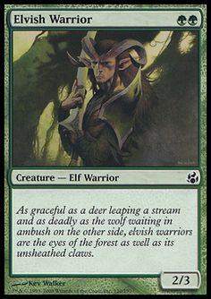 Elvish Warrior - Creature - Elf Warrior - Tree - Green - Morningtide - Magic The Gathering Trading Card