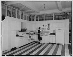 1951 kitchen by designer Raymond Loewy Ass.