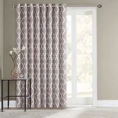 SONOMA Goods For Life™ Fret Patio Door Curtain   100u0027u0027 ...