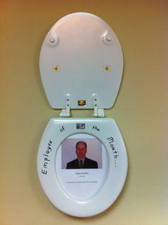 Boss got a toilet seat as a white elephant gift.