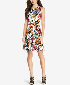 I own this Lauren Ralph Lauren Floral-Print Jersey Dress. I love it! I wish I had several of these in different colors. I also bought it on clearance and paid less than $50 after my Macy's discounts.
