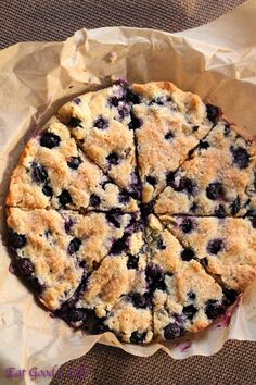 Gluten free blueberry and coconut scones from eatgood4life.com