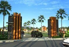 Entrance gate cluster Korji Terrace Archi Design, Facade Design, Architect Design, Entrance Gates, Main Entrance, Grand Entrance, Main Gate Design, Entrance Design, Landscape Architecture Drawing