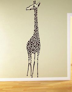 Large Giraffe Vinyl Lettering  animal Decal wall words graphics Home decor bedroom  itswritteninvinyl. $44.00, via Etsy.