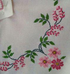 The most beautiful cross-stitch pattern - Knitting, Crochet Love Cross Stitch Letters, Cross Stitch Rose, Cross Stitch Borders, Cross Stitch Samplers, Modern Cross Stitch, Cross Stitch Flowers, Cross Stitch Charts, Cross Stitch Designs, Cross Stitching