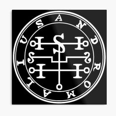 Impression métallique «Sceau Demon Andromalius» Demonology, Solomon, Occult, Seals, Satan, Magick, Les Oeuvres, Symbols, Angel