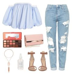 """""""Untitled #304"""" by museavenue on Polyvore featuring Topshop, Too Faced Cosmetics, New Look, Kendra Scott and Gianvito Rossi"""