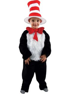 Check out Toddler Dr Seuss Cat In the Hat Costume - Wholesale Dr. Seuss Costumes for Infants & Toddlers from Wholesale Halloween Costumes Character Halloween Costumes, Toddler Halloween Costumes, Halloween Cat, Halloween 2017, Halloween Stuff, Trendy Halloween, Homemade Halloween, Dr Seuss Costumes, Boy Costumes