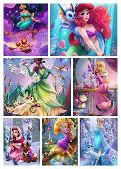 Las princesas con sus pokemones ❤️❤️