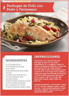 77 best recipe cards tips images on pinterest recipe cards easy pechugas de pollo con pesto y parmesano quericavida forumfinder Images