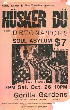 GigPosters.com - Husker Du - Detonators - Soul Asylum