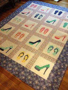 Custom order for Jodi N - a custom shoe quilt, perfect for a little girl!!