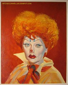 Mitch O'Connell: CLOWN ART! The top 100 most disturbing paintings EVER!