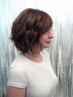 Cute Hairstyles For Wavy Hair Prepossessing Short Layered Wavy Hair Cute Hairstyles  Wavy Hair Layering And
