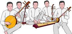 ベトナムの弦楽器。ダングエット、ダンニー、ダンチャン、ダンガオ、ダンタム。