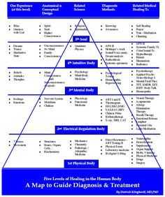 """Five-Level Map (Model) of Health and Healing. It's not just the physical symptoms that need """"healing"""""""