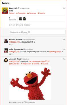 Una vez, el espíritu de Elmo poseyó la cuenta de la Alcaldía de Bogotá