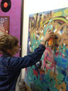 """Wederom op Straatkunst Blog van  Vera Born - """"Workshop.EGD in een notendop """"  - 19 januari 2014 - http://veraborn.wordpress.com/2014/01/19/124/"""