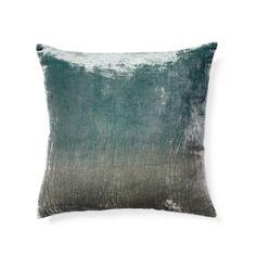 Ombre Gray/Blue Velvet Pillow