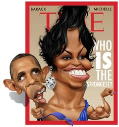 Fernando Buigues. The Obamas
