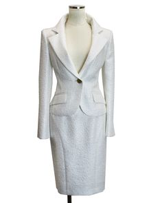 スカートスーツ カラーフォーマルホワイト