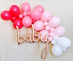 Balloon Garland, Balloon Garland Kit, Balloon Garland, Pink Baby Shower, Rose Gold Baby Balloon, Pink Ombre balloon Garland, Pink Ombre,