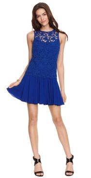 Cobalt is the hot color this Fall and you can get yours with this crochet frock! Available at ali-ro.com on sale!!