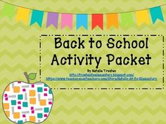 """This packet includes some fun """"get-to-know-you"""" activities for the first week of school, as well as some classroom management tools for elementary students. Blackline masters and tips included are: *Guess Who? *Beginning of year and end of year letters to self *goal bunting *top-10 lists *flexible partner"""