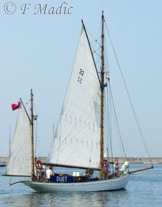 """Duet"" is a Gaff Yawl designed by Linton Hope and built 1912 by Whites of Itchen, Southampton. Length 50ft (15.20m)"