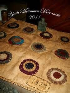 The York Mountain Mercantile: Olde & Early ~12 Wool Penny Rug Mat