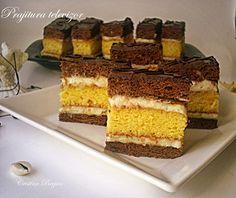 Arome si culori : Prajitura televizor Romanian Food, Romanian Recipes, Vanilla Cake, Tiramisu, Deserts, Dessert Recipes, Food And Drink, Sweets, Hungary
