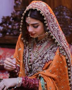 "Before signing this project i too was unaware of the fact that (MPD), also known as ""Dissociative Identity Disorder"" does exist. Pakistani Wedding Outfits, Indian Bridal Outfits, Indian Bridal Fashion, Pakistani Bridal Dresses, Pakistani Wedding Dresses, Pakistani Dress Design, Indian Designer Outfits, Pakistani Mehndi Dress, Punjabi Wedding"