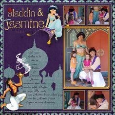 Jasmine Aladdin - Disney scrapbook