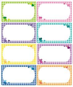 #체크메모지 #하트메모지#메모지도안 #깔끔한이름표#예쁜이름표 #이름표도안체크 도안으로 메모지 만들어... Printable Name Tags, Printable Labels, Printable Stickers, Planner Stickers, Book Labels, Jar Labels, Flash Card Template, Tag Templates, Cubby Name Tags