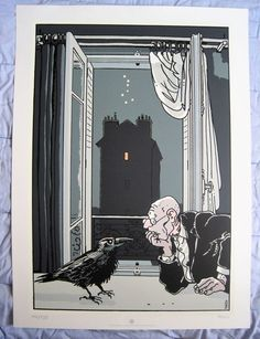 Tardi, Jacques - Zeefdruk Christian Desbois - Tardi par la fenêtre (1996) - W.B.