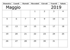 Modello Calendario Word.40 Best Calendario Maggio 2019 Da Stampare Images
