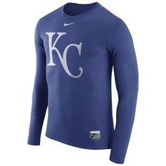 b9118961ff0ce Kansas City Royals Nike Authentic Collection Blend Performance Long Sleeve  T-Shirt - Royal · Mlb YankeesYankees GearNew York ...