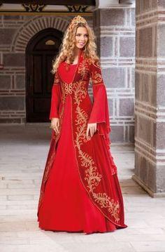 Manolya - Prenses Kırmızı Bindallı 210
