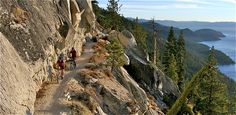 The Flume Trail, Lake Tahoe, just one of many beautiful places to go bike riding in California. Good site for seeing biking trails, hiking trails, camping locations in both Northern and Southern California - unique vacation ideas around Los Angeles for families